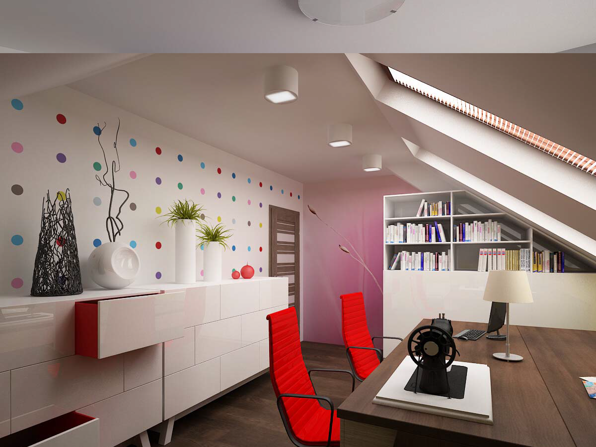 Navrhuji interiéry kanceláří, ve kterých vám půjde práce hezky od ruky